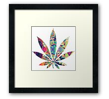 Weed Leaf Trippy Framed Print