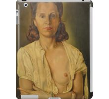 WOMAN AFTER WAKING UP. iPad Case/Skin