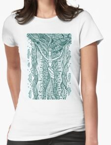 Woman in harmony with nature.  Womens Fitted T-Shirt