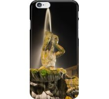 Rome's Fabulous Fountains – Triton Fountain at Night iPhone Case/Skin