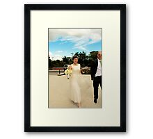 Stormy Bride Framed Print