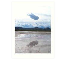 cloud reflection at hot spring Art Print