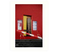Caution Red Repair Art Print