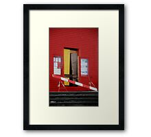Caution Red Repair Framed Print
