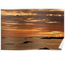 Sunset from Traigh,Arisaig. Poster