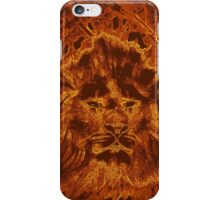 Wooden Lion Watching Over Its Kingdom  iPhone Case/Skin