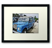 Land Rover On The Beach Framed Print