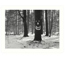 Tree Spirit (B&W) Art Print