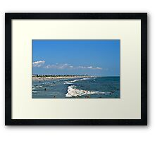 HOT, HUMID AND THE BEACH Framed Print