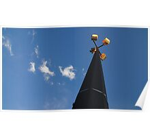 Light pole and clouds in Topeka Poster