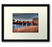 Oldest Bridge In Dorset Framed Print