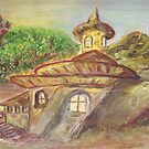 Monastry in Carpathians  by Mary Sedici