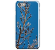Mother Nature Christmas Decorations - Gleaming Icy Baubles in Blue iPhone Case/Skin