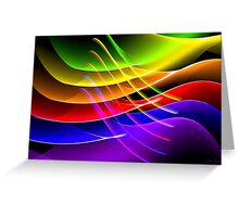 Rainbow Waves Greeting Card