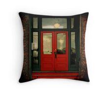 Red Door Red Steps Throw Pillow