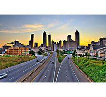 Atlanta skyline at dusk Photographic Print