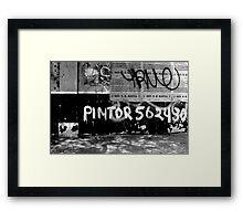 Pintor Tags Peru! Framed Print