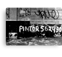 Pintor Tags Peru! Canvas Print