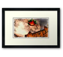 UFO - Over Stately Home by Raphael Terra Framed Print