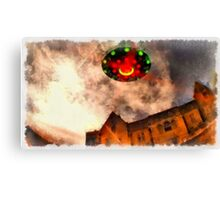 UFO - Over Stately Home by Raphael Terra Canvas Print