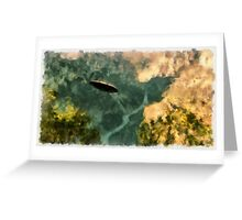 UFO - Coming Up the Valley by Raphael Terra Greeting Card