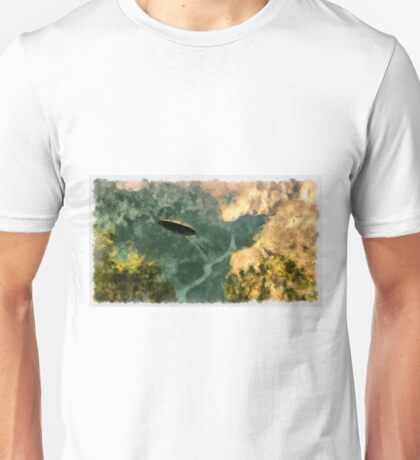 UFO - Coming Up the Valley by Raphael Terra Unisex T-Shirt