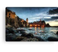 Vernazza Sunset Canvas Print