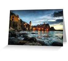 Vernazza Sunset Greeting Card
