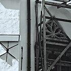 Wooden Scaffolding, Tallin by Celia Strainge