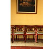 chairs and painting Photographic Print