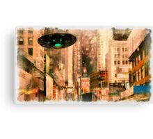 UFO - In The City by Raphael Terra Canvas Print