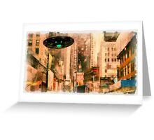 UFO - In The City by Raphael Terra Greeting Card