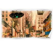UFO - In The City by Raphael Terra Poster