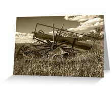 Wrecked Wagon......days gone by... Greeting Card