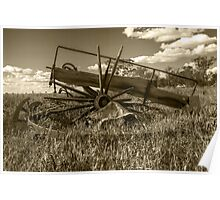 Wrecked Wagon......days gone by... Poster
