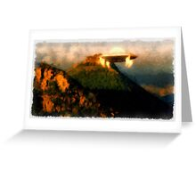 UFO - Coming Down by Raphael Terra Greeting Card