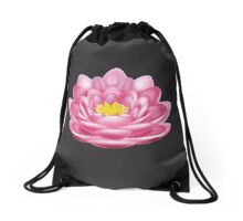 Lotus Flower Drawstring Bag