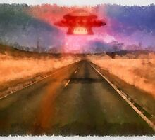 UFO - On the Road by Raphael Terra by esotericaart