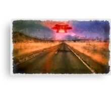 UFO - On the Road by Raphael Terra Canvas Print