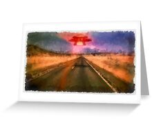 UFO - On the Road by Raphael Terra Greeting Card