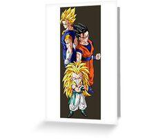 dragon ball z gotenks gohan vegito gogeta anime manga shirt Greeting Card
