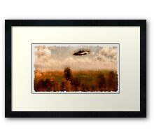 UFO - In The Countryside by Raphael Terra Framed Print
