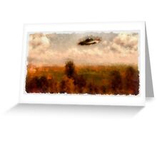 UFO - In The Countryside by Raphael Terra Greeting Card