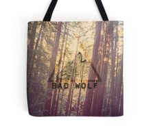 Wolf on Woods Tote Bag
