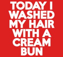 Today I washed my hair with a cream bun Kids Clothes