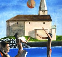 Saint.Biagio church and bathers. by citywind