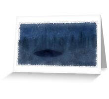UFO - In The Mist by Raphael Terra Greeting Card