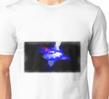 UFO - Blue in Flames by Raphael Terra Unisex T-Shirt