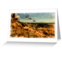 UFO - Invasion Force by Raphael Terra Greeting Card