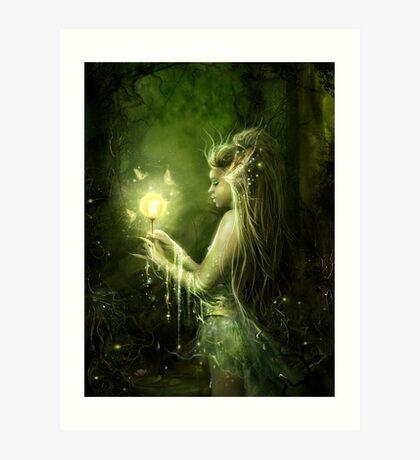 Lady of the swamp Art Print